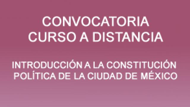 Curso a distancia para el Congreso de la CDMX