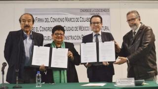 EAP y Congreso de la CDMX firman convenio para profesionalizar práctica legislativa